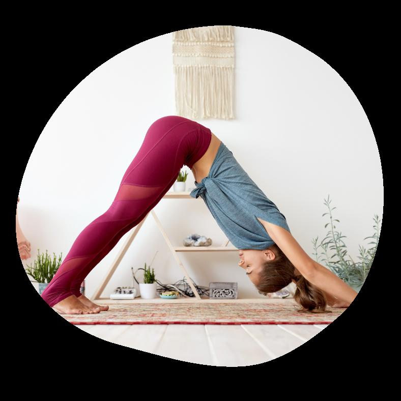 Down dog yoga stilling