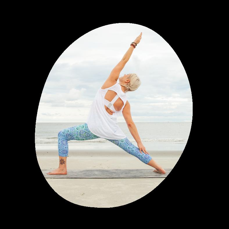 Stolt kriger yoga øvelse