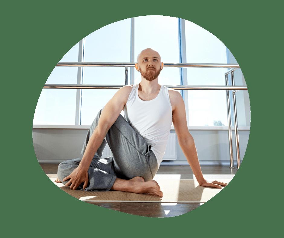 Siddende twist yoga