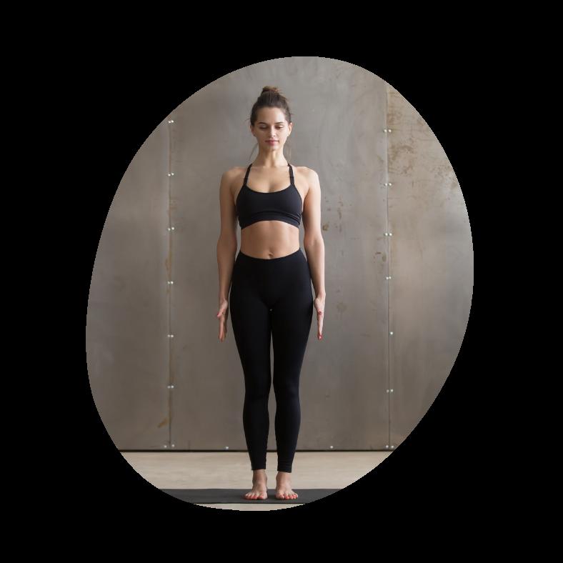 Tadasana - bjergets stilling i yoga