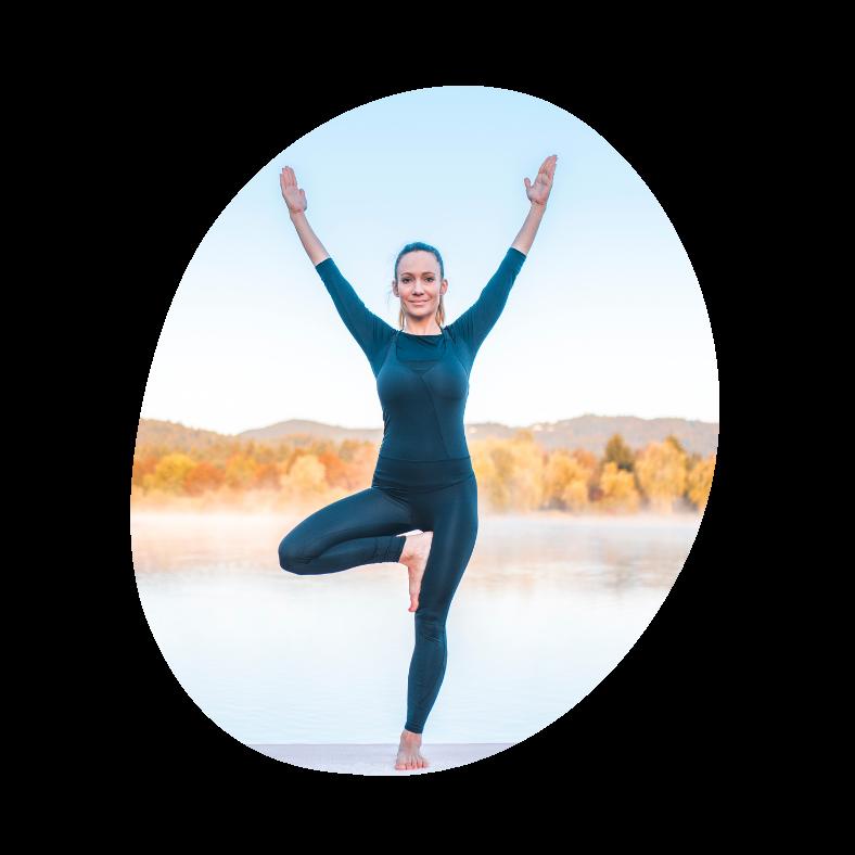 Tree pose yogaøvelse for begynder yogis