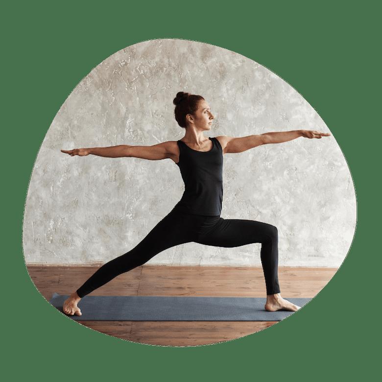 Warrior 2 yoga øvelse