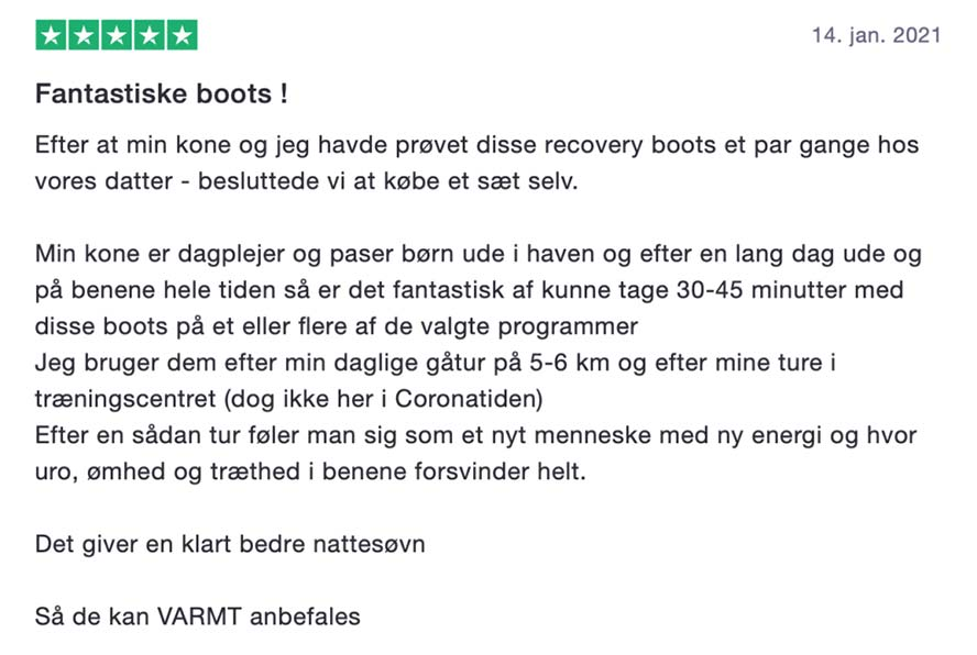 Anmeldelse af Recovery Boots